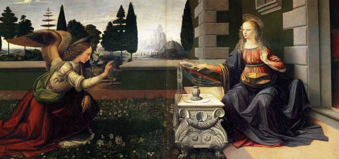 The Anunciation -- Leonardo da Vinci