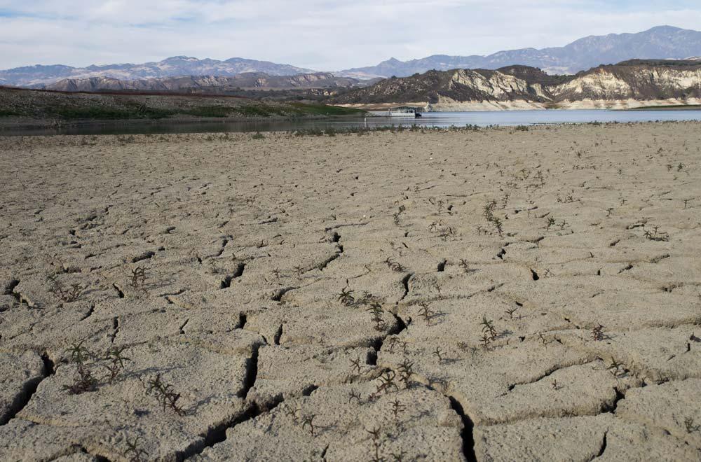 California's Lake Cachuma, at only 7% of capacity.